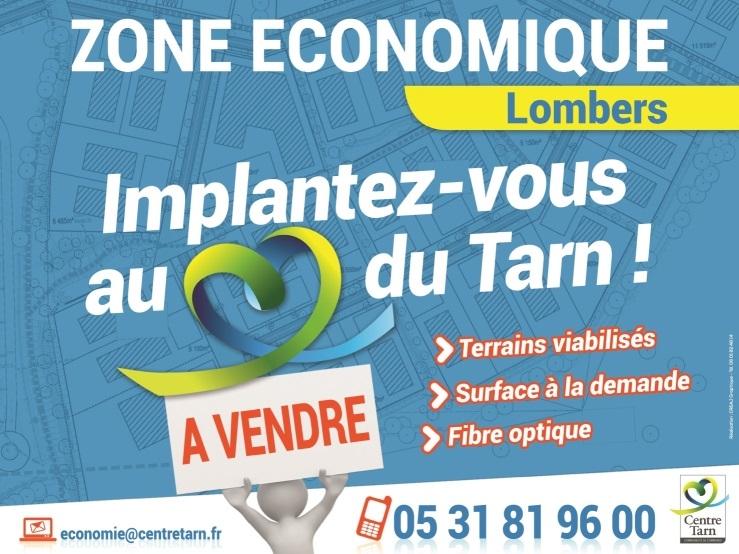 Panneau zone économique de Lombers