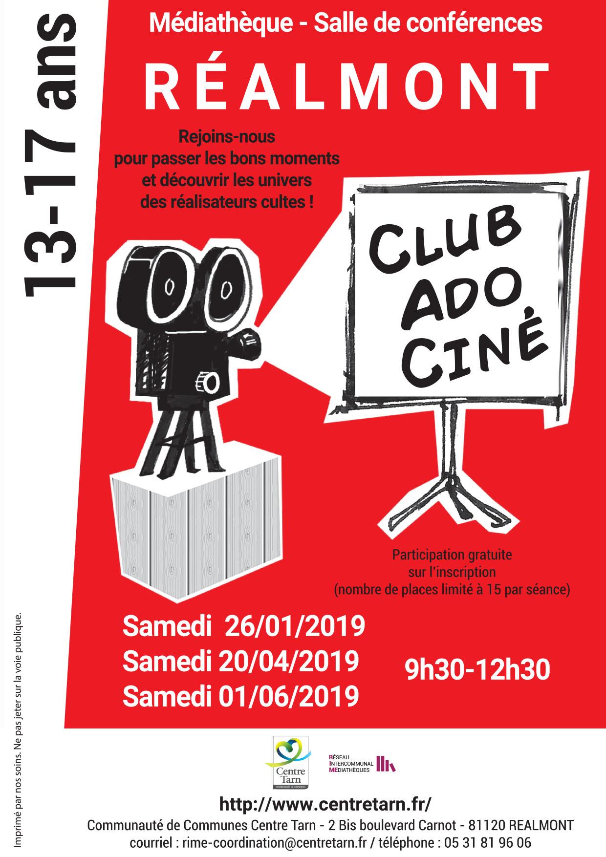 Club Ado Ciné sur grand écran comme au cinéma !