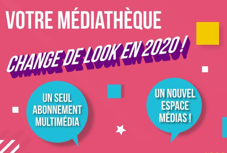 Votre médiathèque change de look en 2020 !