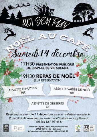Noël au café Aici Sem Plan à Saint-Antonin-de-Lacalm