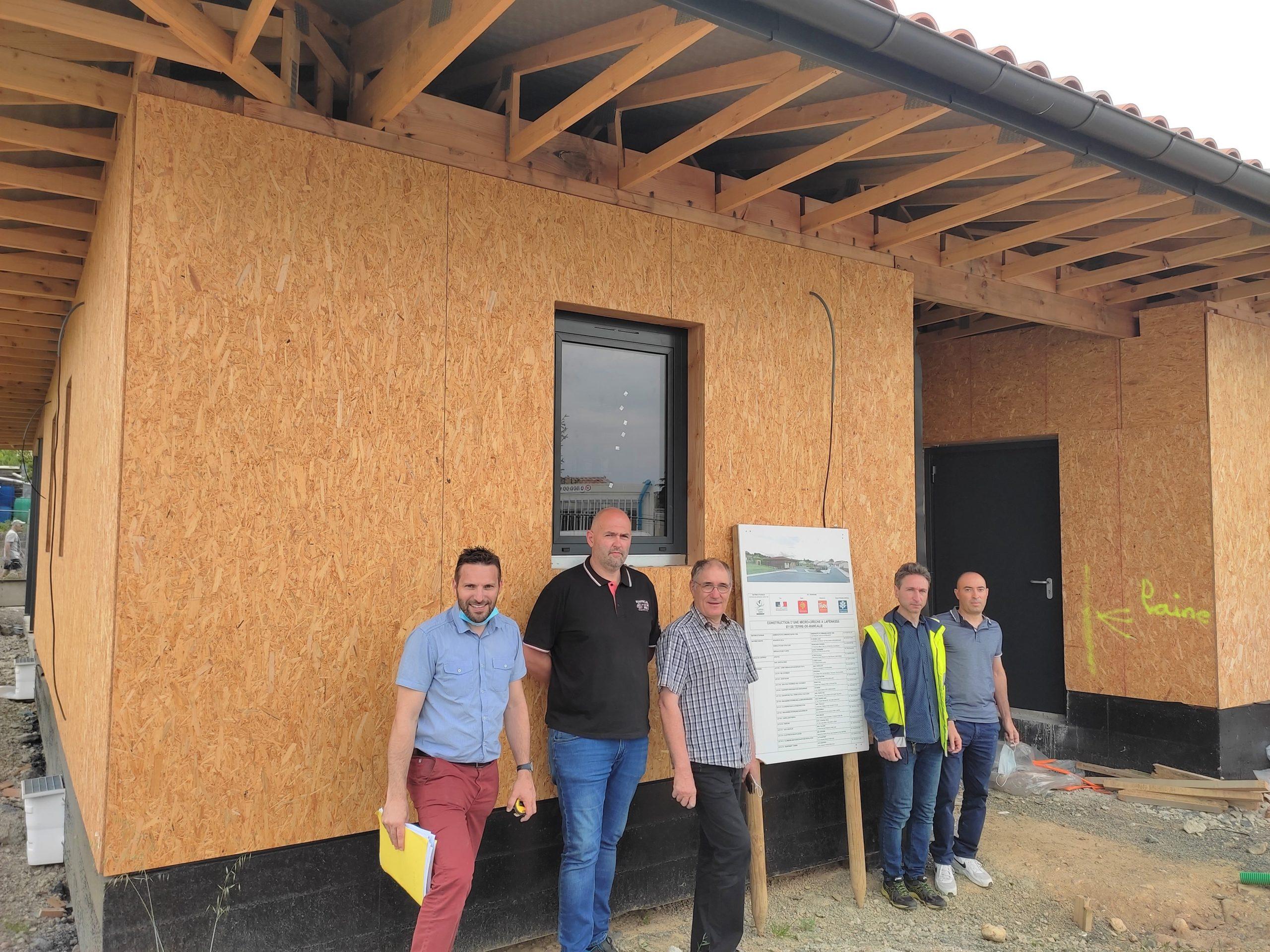 Terre-de-Bancalié : construction d'une micro-crèche à ossature bois